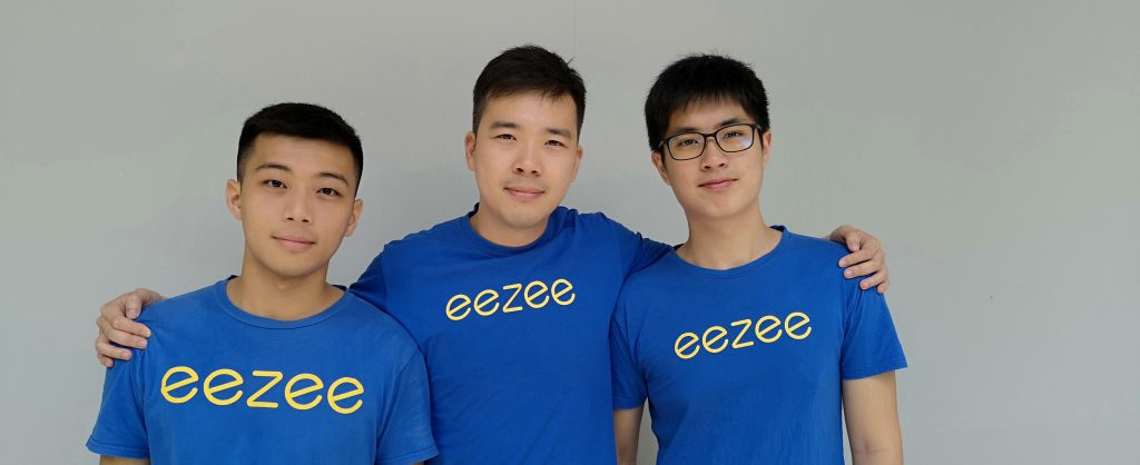 From Left_ Eezee's Co-founders, Jasper Yap (CTO), Logan Tan (CEO) and Terence Goh (Chief Design Officer)