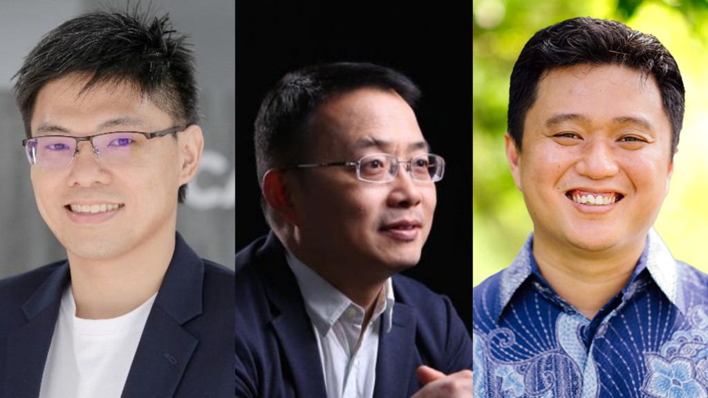 L-R: Kelvin Chng, co-founder of Carro, Jianfeng Lu, chairman and founder of WIZ.AI, Ridy Lie, partner and head of tech at Insignia Ventures Partners