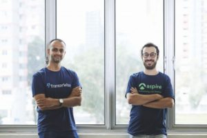 (from left) Venkatesh Saha, TransferWise's head of Asia-Pacific and Middle East, with Andrea Baronchelli