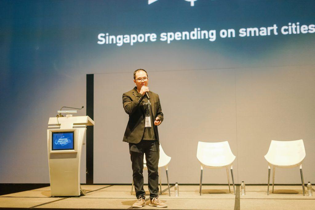 Anthony opening the first Singapore Smart City Summit organized by igloohome in 2019