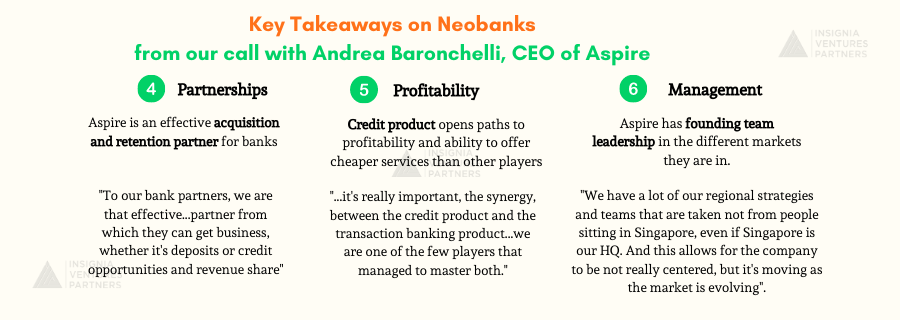Key Takeaways on Neobanking in Southeast Asia from our call with Aspire CEO and co-founder Andrea Baronchelli (Part 2)