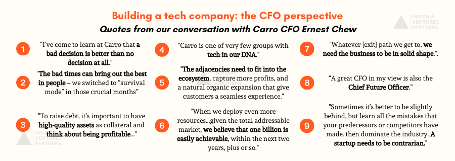 Takeaways from conversation with Carro CFO Ernest Chew