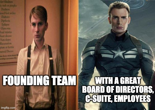 Who knew all Captain America needed was a good dose of the right BoD and C-suite leadership?
